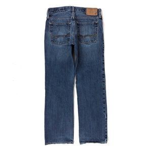 American Eagle Button Fly Straight Blue Jeans